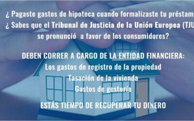 Gastos de constitución de hipoteca a raíz de la Sentencia del Tribunal Supremo de 27 de enero de 2021. GASTOS DE TASACIÓN.